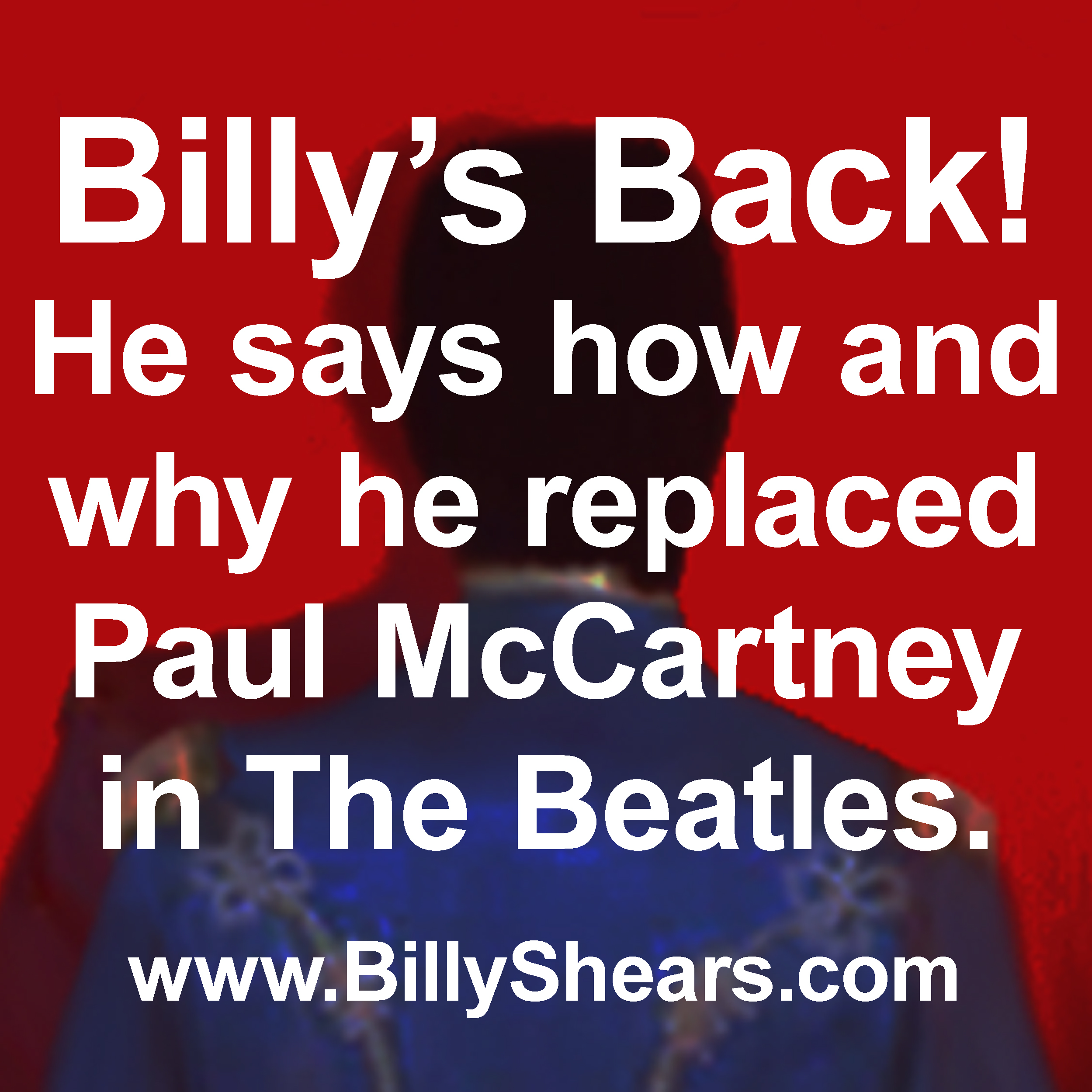 Paul is Dead.  Paul McCartney was replaced by William Shepherd.